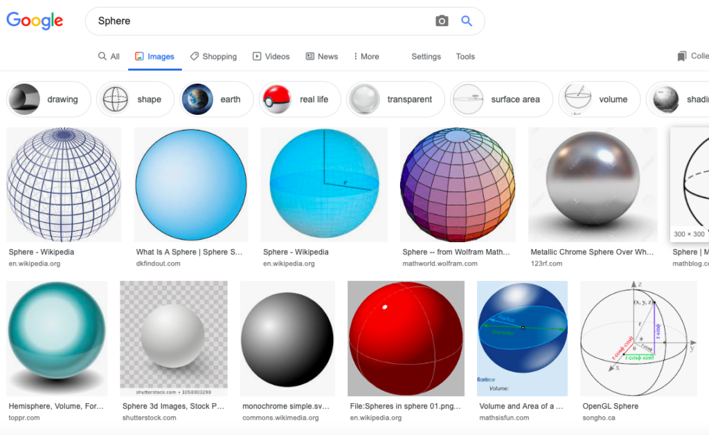 screen shot sphere