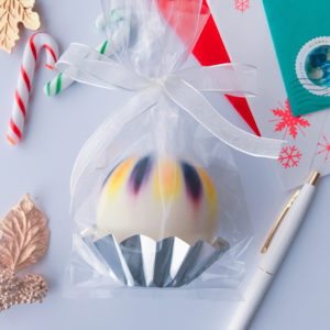 wrapped sphere candle
