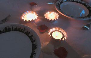 candles in dark