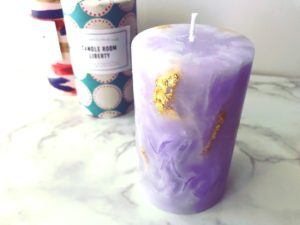 Marble stone candle